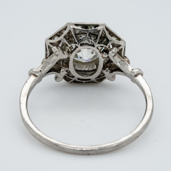 Hexagonal 1.12ct old cut diamond engagement ring  DBGEMS - image 3