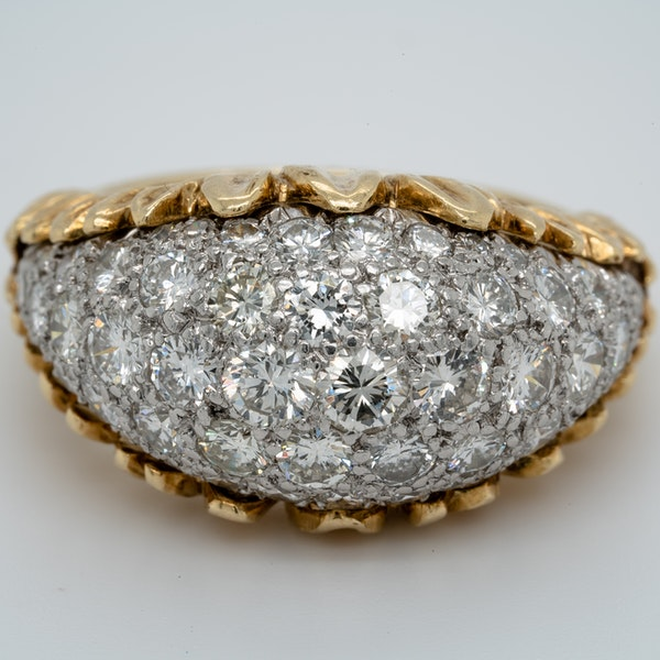 1960's bombe diamond dress ring - image 1