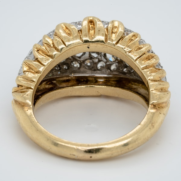 1960's bombe diamond dress ring - image 3