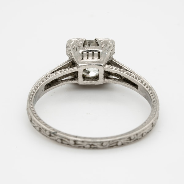 Art Deco Geometric Diamond Engagement Ring  DBGEMS - image 4