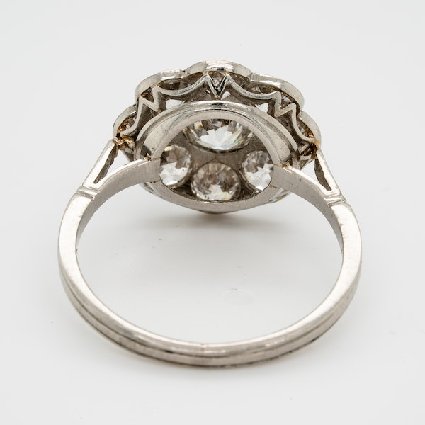 Art Deco French Diamond Cluster Ring  DBGEMS - image 3