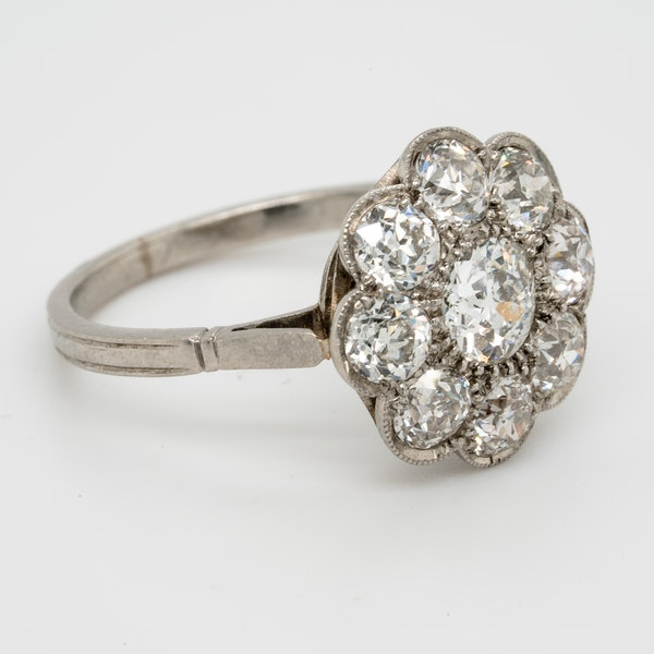 Art Deco French Diamond Cluster Ring  DBGEMS - image 2