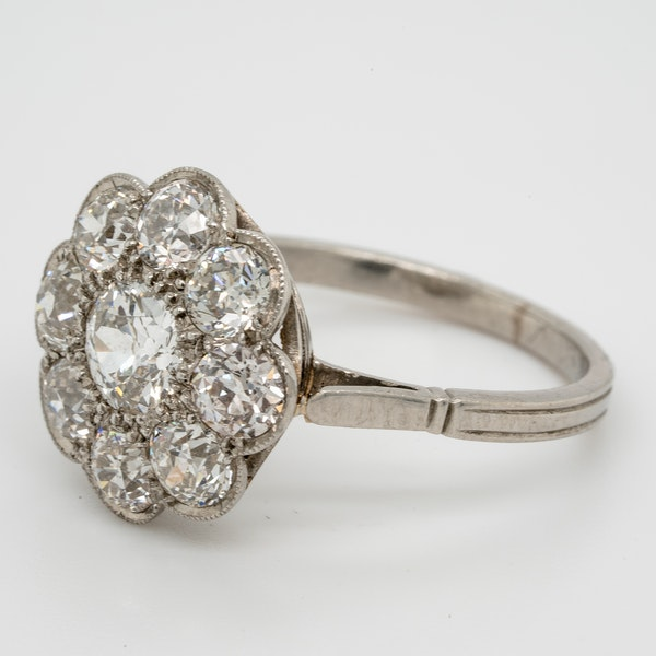 Art Deco French Diamond Cluster Ring  DBGEMS - image 4