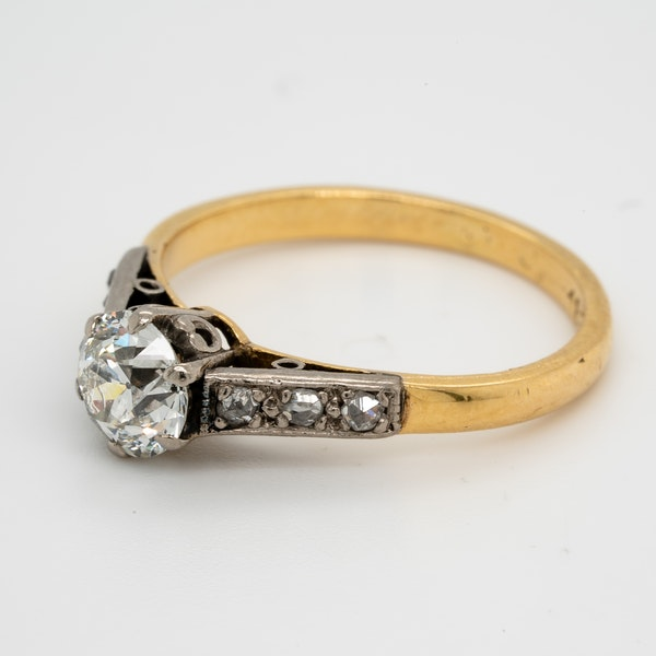Antique Diamond Solitaire Engagement Ring  DBGEMS - image 4