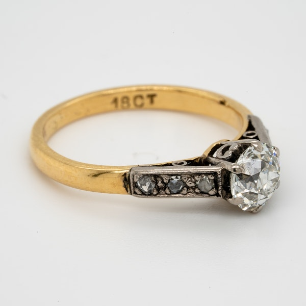 Antique Diamond Solitaire Engagement Ring  DBGEMS - image 2