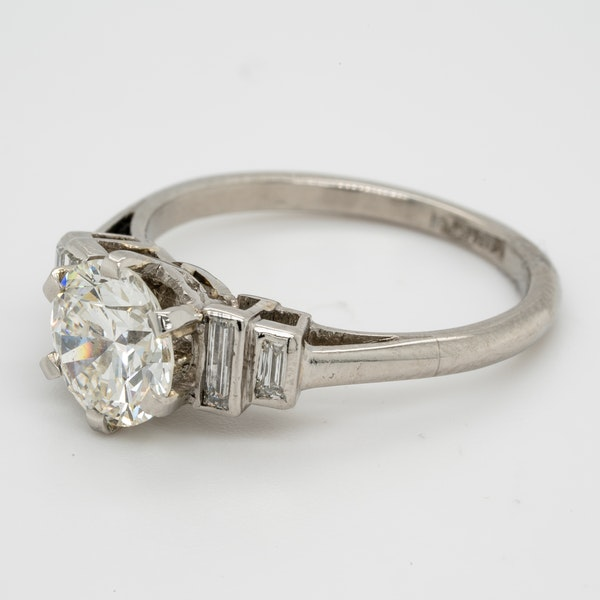 art deco 1.16ct diamond engagement ring - image 4