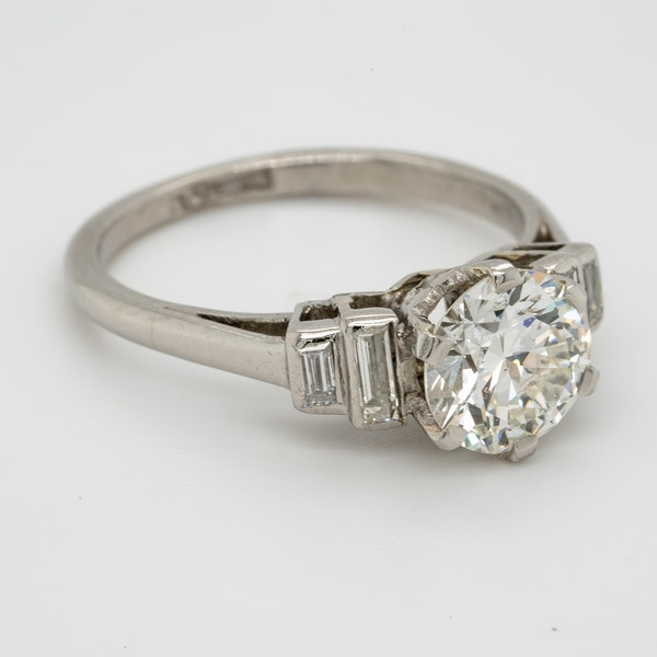 art deco 1.16ct diamond engagement ring - image 2