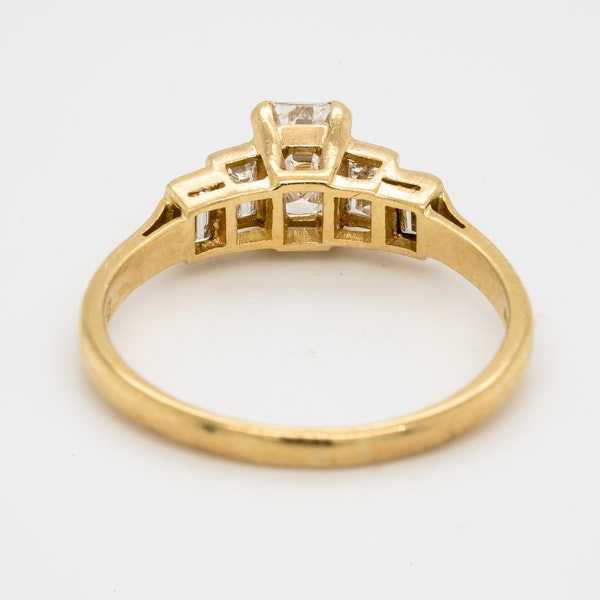 Geometric Emerald Cut Diamond Ring - image 4