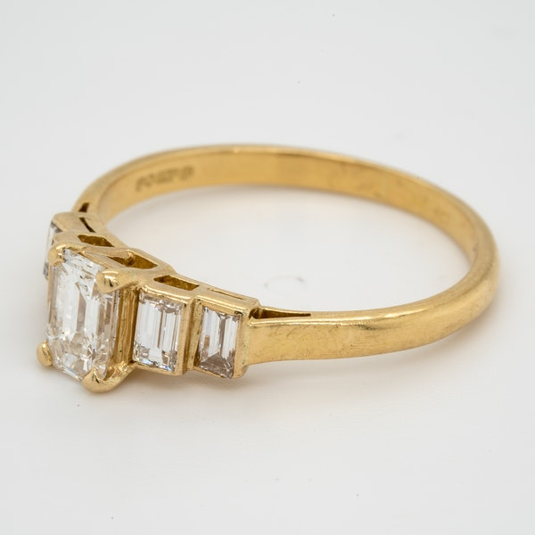 Geometric Emerald Cut Diamond Ring - image 3