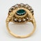 Antique Turquoise and diamond cluster ring  DBGEMS - image 3
