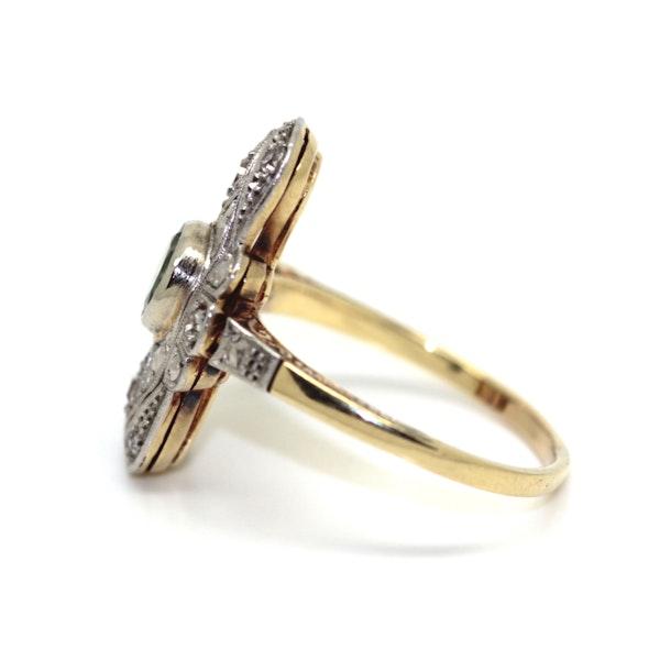 Art Deco Peridot And Diamond Ring. S.Greenstein - image 2