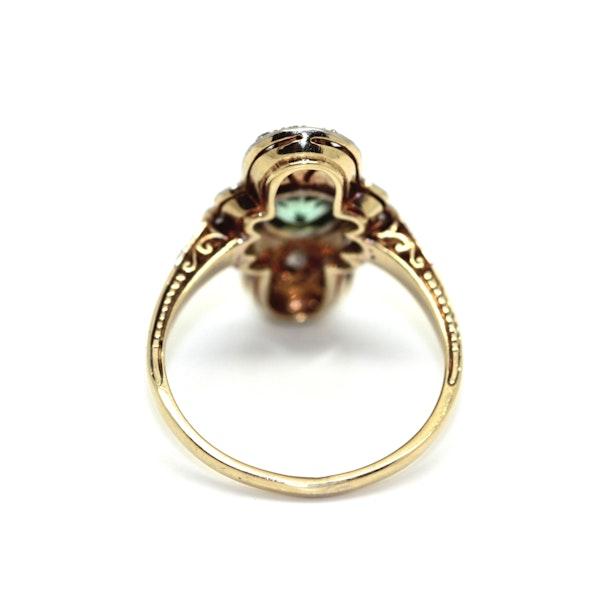 Art Deco Peridot And Diamond Ring. S.Greenstein - image 3