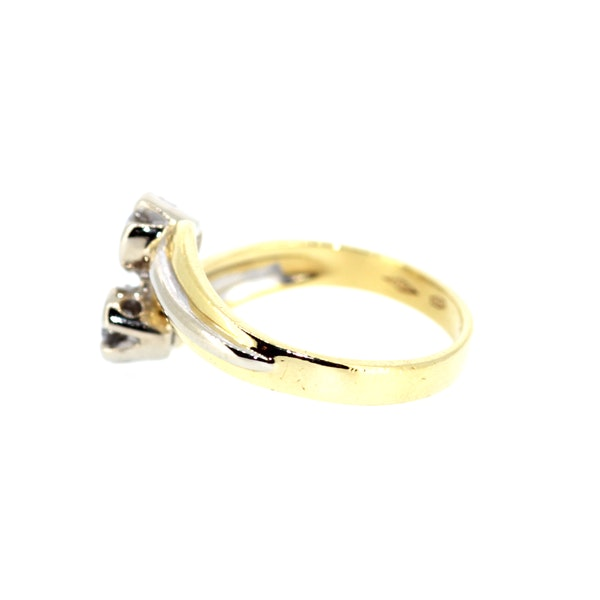 Diamond Twist Gold Ring. S.Greenstein - image 3