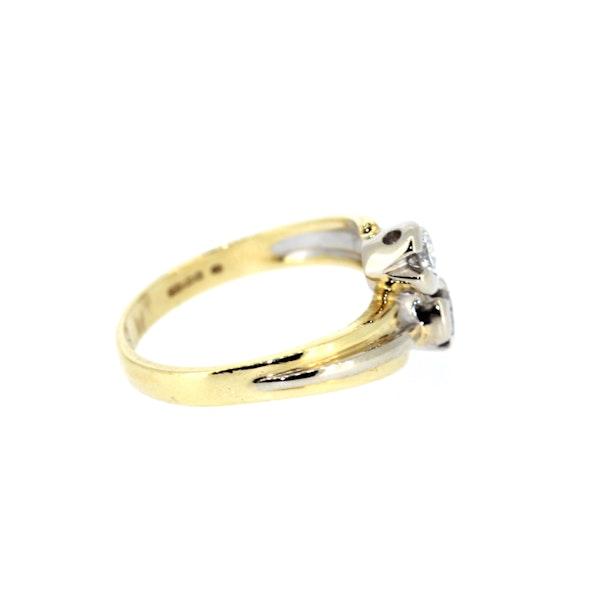 Diamond Twist Gold Ring. S.Greenstein - image 5