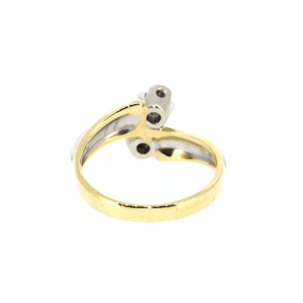 Diamond Twist Gold Ring. S.Greenstein - image 4