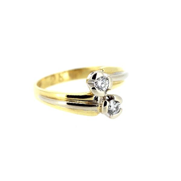 Diamond Twist Gold Ring. S.Greenstein - image 2