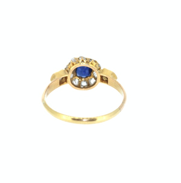 Old Cut Sapphire And Diamond Ring. S.Greenstein - image 3