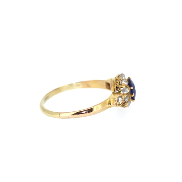 Old Cut Sapphire And Diamond Ring. S.Greenstein - image 4
