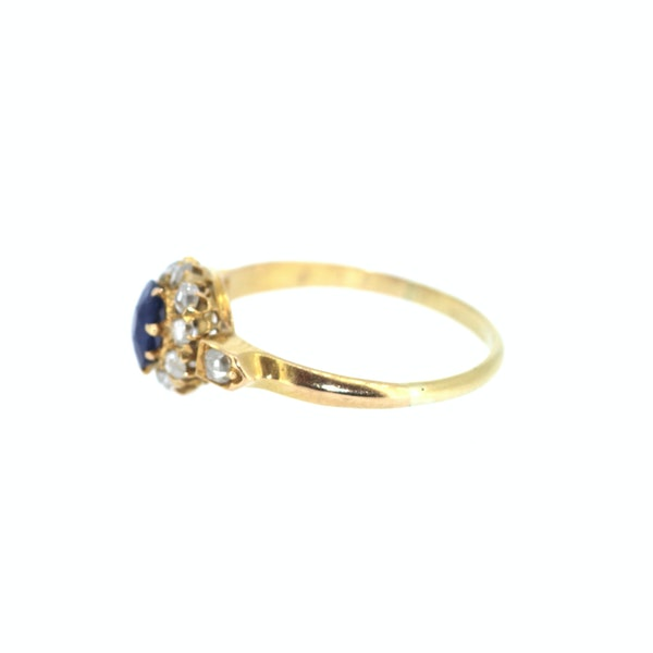 Old Cut Sapphire And Diamond Ring. S.Greenstein - image 2