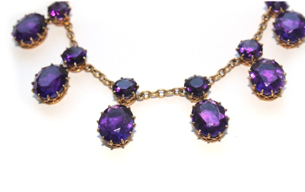 Victorian 18ct amethyst necklace - image 2