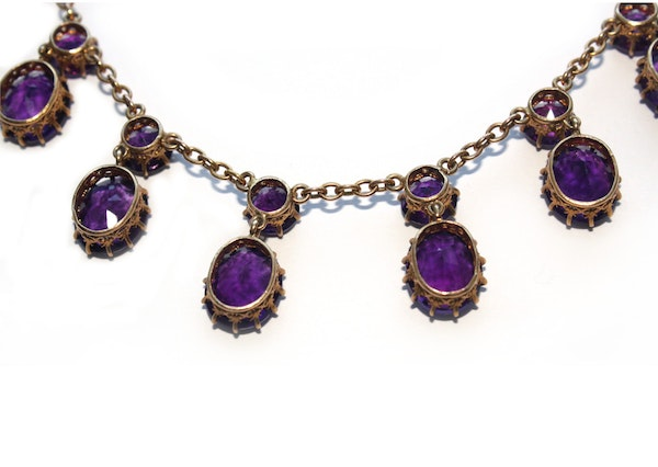 Victorian 18ct amethyst necklace - image 4
