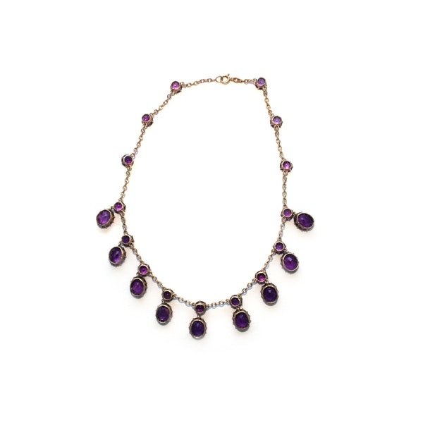 Victorian 18ct amethyst necklace - image 3