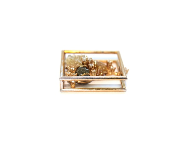 Diamond and diamond crystal pendant - image 2