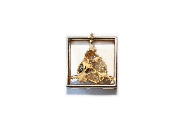 Diamond and diamond crystal pendant - image 4