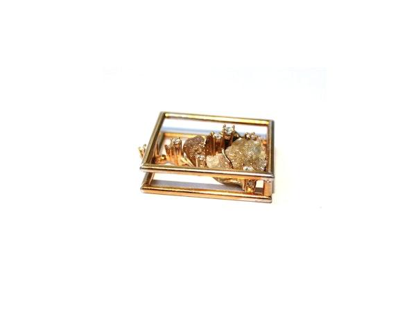 Diamond and diamond crystal pendant - image 3