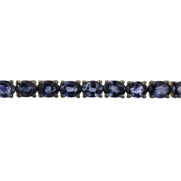 Tennis sapphire bracelet - image 2