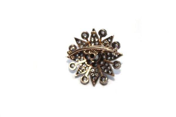 Victorian diamond star brooch - image 2