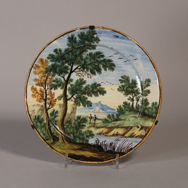 Italian maiolica Castelli plate, mid 18th c. - image 1