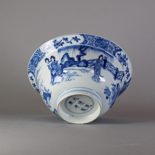 Fine Chinese blue and white 'klapmuts' bowl, Kangxi(1662-1722) - image 7