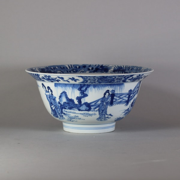 Fine Chinese blue and white 'klapmuts' bowl, Kangxi(1662-1722) - image 6