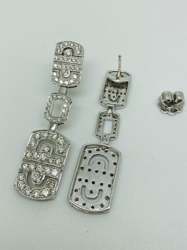 18K white gold 2.68ct Diamond Earrings - image 3