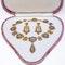 Victorian fine gold enamel suite - image 1