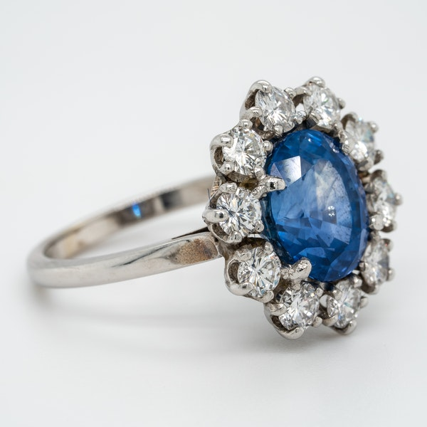 A Sapphire and Diamond Cluster Ring Offered by The Gilded Lily - image 2