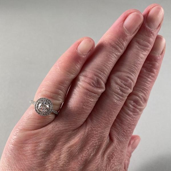 Diamond Halo Ring in 18ct White Gold date circa 1980 SHAPIRO & Co since1979 - image 1