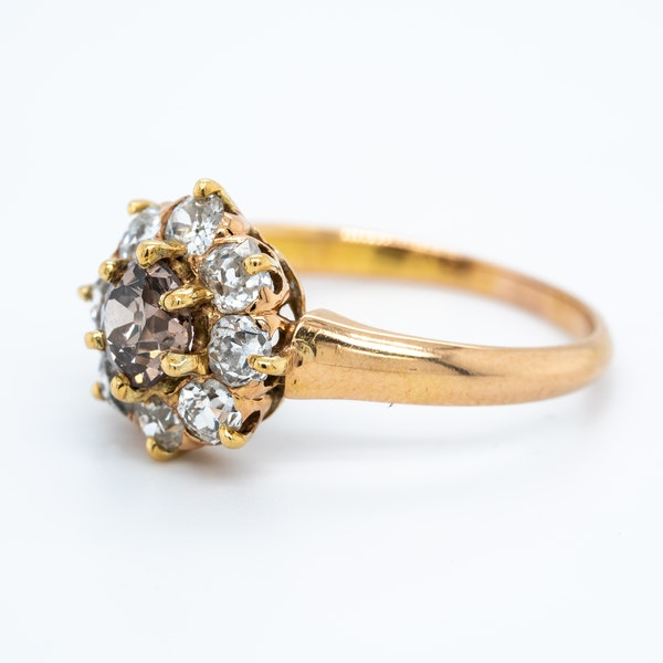 Diamond and fancy coloured diamond cluster ring - image 3