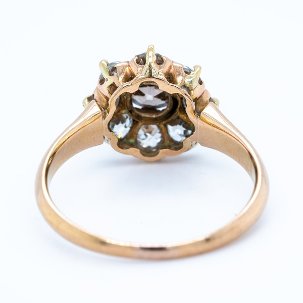 Diamond and fancy coloured diamond cluster ring - image 4