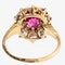 Victorian Ring with Burma Ruby and Diamonds in 18 Carat Gold, English circa 1890. - image 2