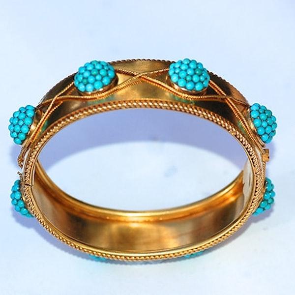 Pavé turquoise bangle - image 3