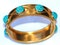 Pavé turquoise bangle - image 2