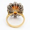 Fire opal and diamond oval cluster ring - image 4
