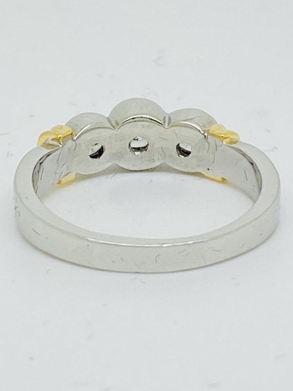 18K white gold 3 stone 0.70ct Diamond Ring - image 2