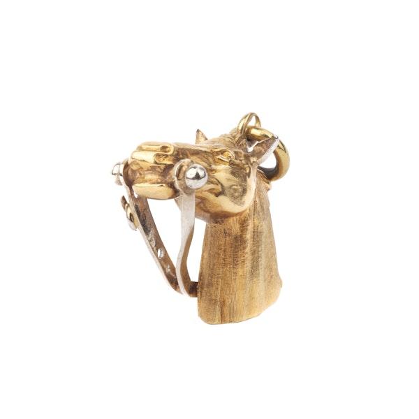 Gold Horse Head Pendant - image 2