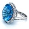 Platinum 21.82ct Natural Aquamarine and 2.00ct Diamond Ring - image 7