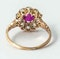 Antique Cluster Ring in 18 Carat Gold, Burma Ruby & Old Cut Brilliant Diamonds, English circa 1870. - image 3
