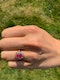 Antique Pink Spinel and Diamond Oval Cluster Ring in 18 Carat Gold, English circa 1865. - image 7