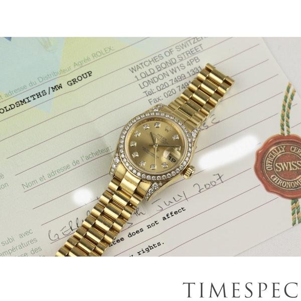 Rolex Lady Datejust, 26mm, 179158, 18K Yellow Gold Diamond Papers & Box - image 4